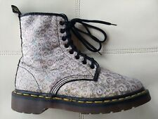 DOC DR MARTENS WHITE LACE & GLITTER BOOTS MADE IN ENGLAND RARE VINTAGE 5UK US:W7