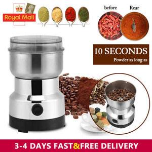 Electric Coffee Grinder Spice Nut Seed Herb Crusher Mill Bean Blender Blade