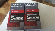 Loreal Men Expert Vita Lift. anti envejecimiento Crema Hidratante Diaria. 5 medidas .50ML X 2.