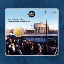 Frankreich - 30 Jahre Mauerfall Berlin - 2 Euro 2019 BU Coincard - Fall of ...