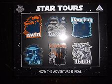 Disney 2017 D23 Expo EXCLUSIVE: Star Tours 30th, Six 6 Pin Box Set, LE 150