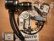 Mercruiser Transom Bellows Kit Gimbal Alpha 1 ONE SHIFT CABLE 2 U-JOINTS + GLUE