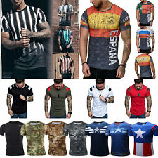 Gym Men Short Sleeve T Shirt Sports Tee Quick Drying Muscle Bodybuilding Blouse