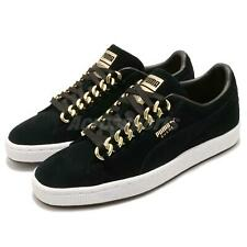 Puma Suede Classic X Chain Black Gold White Men Casual Shoes Sneakers 367391-03