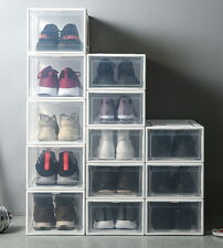 Sneaker Display Cases Shoe Box Extra Large Clear Plastic Boxes - Transparent