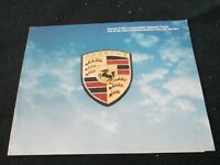 1980 Porsche 911SC Weissach Coupe Sales Brochure Limited Edition 911 SC Catalog