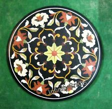 30 Inches Marble Patio Coffee Table Top Stone Dining Table with Pietra Dura Art
