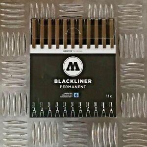 Molotow Blackliner Complete Set - 11 Markers