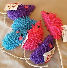 Zanies Moppy Mice cat toy. Lot of 3.