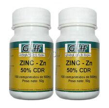 ZINC 2 x 100 comp 500 mg Sistema Inmunológico Antioxidante Piel Cabello Prostata