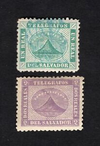 Salvador 1867 2 stamps Mi#Telegraph MH/used
