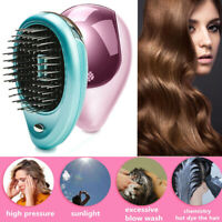 Portable Électrique Lonic Brosse à Cheveux à Emporter Mini Ion Peigne Massage S