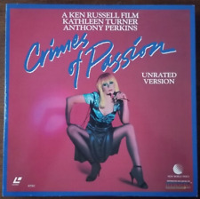 LASERDISC Movie: CRIMES OF PASSION - Kathleen Turner, Anthony Perkins