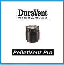 "DURAVENT PELLETVENT PRO 3"" Diameter Harman Black Appliance Adapter #3PVP-ADHB"