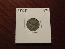 1868 Three Cent Nickel (VF)