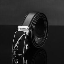 Men's Belts Waist Strap Automatic Buckle Belt Genuine Leather Business Waistband