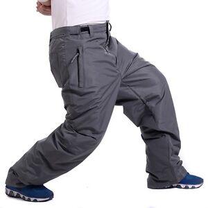 Mens Snow Winter Warm Ski Pants Thicken Waterproof Snowboarding Trousers Outdoor