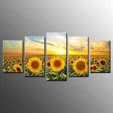 Canvas Print Wall Art Painting For Home Decor Sunflower Sunshine No Fram 5pcs