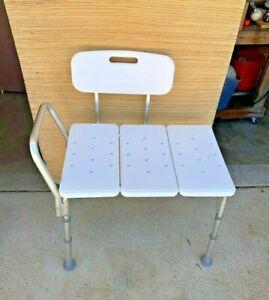Bathtub Transfer Bench B154 300lbs Bath Shower Safety Chair  Adjustable Carex