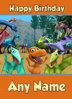 Personalised Birthday Card - The Dinosaur Train - Son Nephew Grandson Boy...