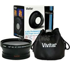 55mm Vivitar .43x Fisheye W/ Removable Macro 4 A33 A55 A100 A230 A200 A330 A350