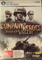 Company of Heroes Tales of Valor PC Game Manual Rare Free Postage
