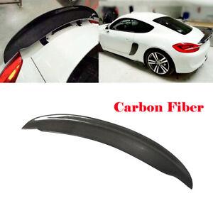 For Porsche Cayman Boxster 981 13-16 Rear Trunk Spoiler Lid Wing Carbon Fiber