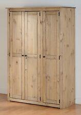 Seconique Panama 3 Door Wardrobe in Natural Wax - Free Delivery