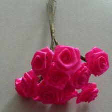 Dior Roses 12 Bundle Small Satin Roses Rose Wedding Pink