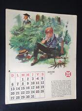 Rare calendrier FSC 1957 Illustré par René Follet