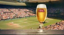 Set of 2 Stella Artois Chalice Pint Glass B/wimbledon Championship Edition