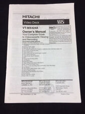 New listing Hitachi Video Deck Vt-Mx424A Owner'S Manual