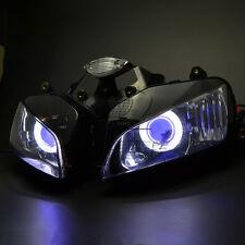 White Angel Blue Demon Eye Projector Headlight Assembly for Honda CBR600RR 03-06