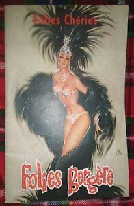 Folies Bergere vintage Programme