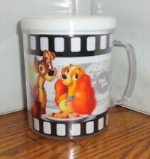 LADY AND THE TRAMP PLASTIC CUP. 8 oz. DISNEY CARTOONS.....FREE SHIPPING