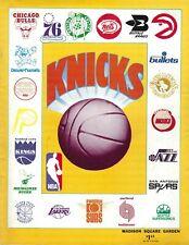 1976 12/25 basketball program, Philadelphia 76ers New York Knicks Julius Erving