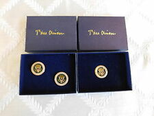 2 Authentic Presidential Seal Bill Clinton White House gifts Cufflinks Lapel pin
