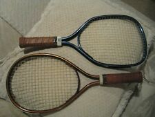 2 racquetball rackets. Wilson Marksman with cover and Leach. Used.