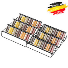 Gewürzhalter für Schubladen aus Metall-2er 2 Größen ausziehbar Gewürzregale Deco