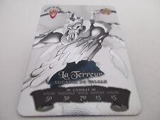 Carte GORMITI METALLCARDS N°98 La Terreur Seigneur du Volcan - Preziosi 2009 Fr