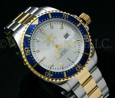 Invicta SUBMARINER Pro Diver COIN EDGE Bezel Silver Sunray Dial Two Tone Watch