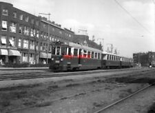 PHOTO  NETHERLANDS TRAMS 1959 ROTTERDAM ZUID  RTM M TRAM NO 1801 AND TRAIN