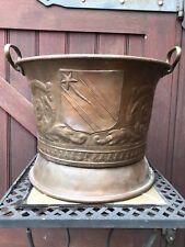 Vintage Trench Art Copper Planter Korean War Hand Made