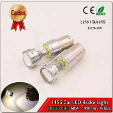 1X 1156 BA15S P21W 60W White 12LEDs CREE XBD Back-Up Reverse Light Bulbs DC9-30V