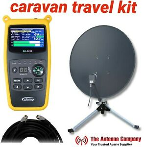 Vast caravan portable Satellite travel kit with quality tester stand and cable .