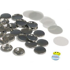 100 Stück 25 mm Buttonrohlinge, Ansteckbuttons Sicherheitsnadel Badgematic