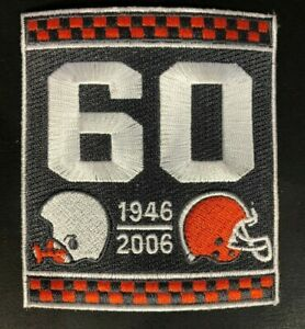 Cleveland Browns 2006 60th Team Anniversary Jersey Patch Brown Version