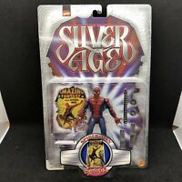 SILVER AGE SPIDER-MAN Previews EXCLUSIVE Action Figure Toy Biz 1999 #47767 VTG