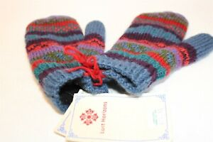 Lost Horizons NEW Fair Trade Nepal Made 100% Wool Hand Knit Mittens