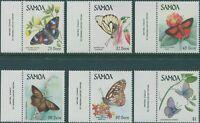 Samoa 1986 SG716-721 Butterflies set MNH